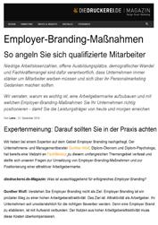 Fachartikel Employer-Branding-Maßnahmen